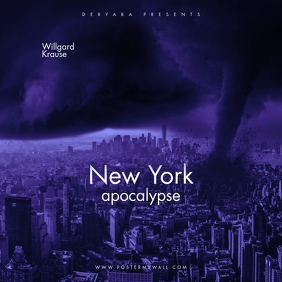 New York Apocalypse The Mixtape CD Cover template