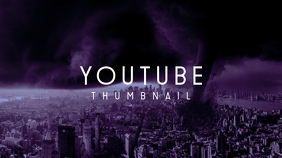New York Apocalypse Youtube Dark Thumbnail template