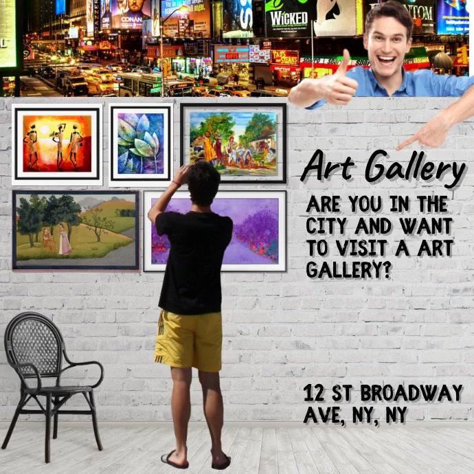New York Art Gallery Instagram-opslag template