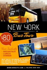 New York Bus Tour Poster template