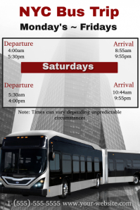 New York Bus Trip Flyer