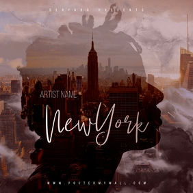New York CD Cover Art Template