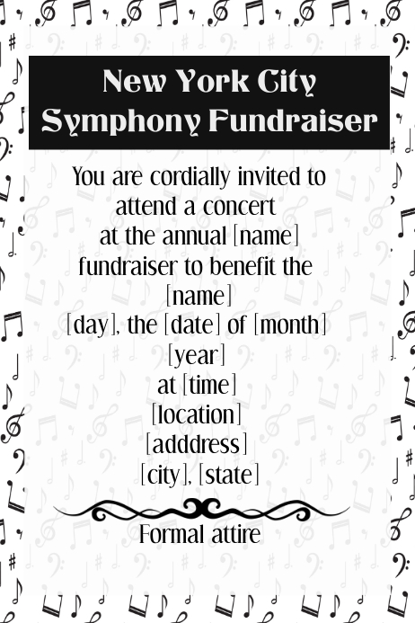 New York City Music Concert dinner reception fundraiser