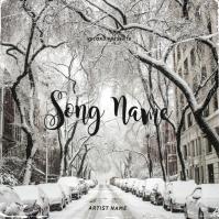 New York Snow album cover design template