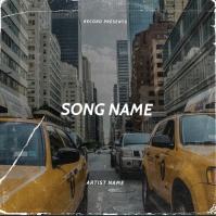 New York Taxi album cover design template