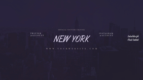 NEW YORK Youtube Channel Art Banner