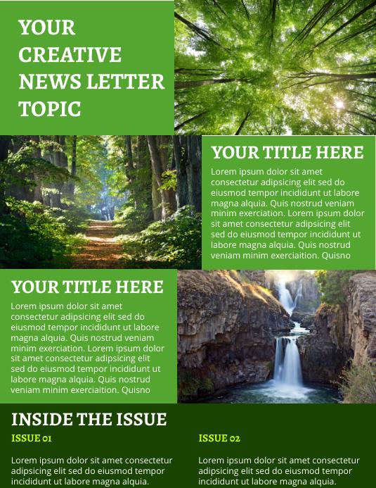 News Letter Template Рекламная листовка (US Letter)