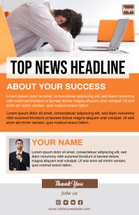 News Letter Template Tabloid