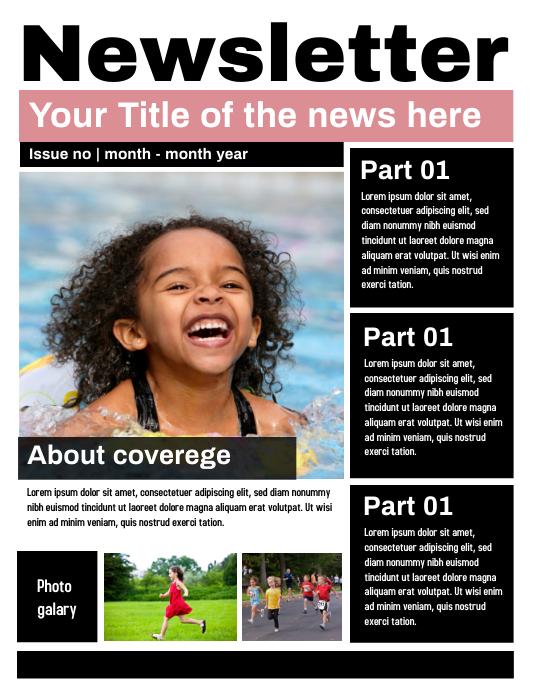 News Letter Template Flyer (US Letter)