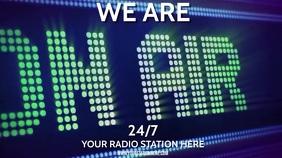 NEWS RADIO STATION Digitale display (16:9) template