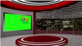 News Studio YouTube-Miniaturansicht template