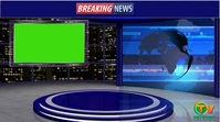News Studio Display digitale (16:9) template