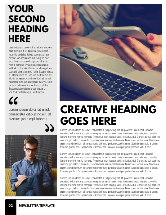 Newsletter Template - Page 2