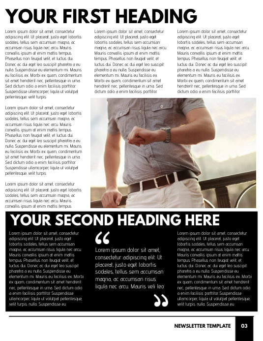Newsletter Template - Page 3