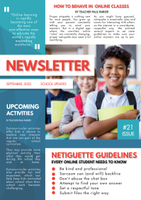 Newsletter Custom Template Sample For School