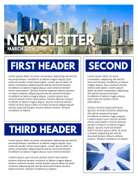 NEWSLETTER Flyer (US Letter) template