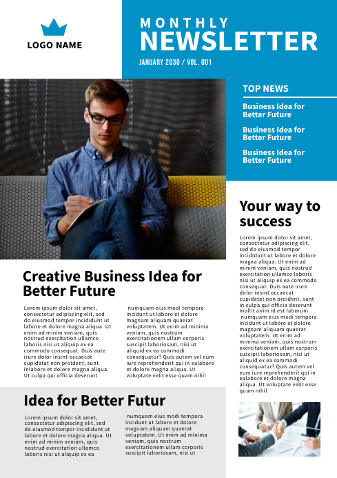 Newsletter Design Template A4