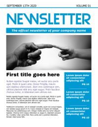 Newsletter Pamflet (VSA Brief) template