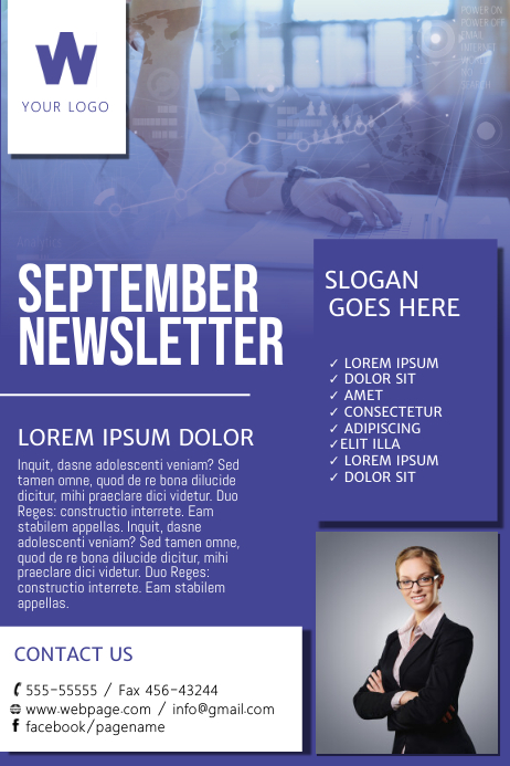 Newsletter Flyer Design Template