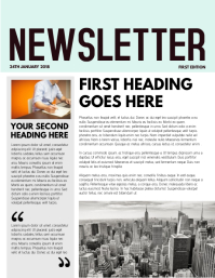 Newsletter Template Flyer (US Letter)
