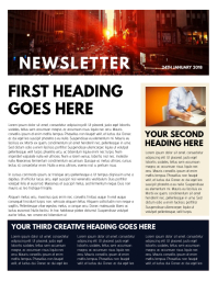 Newsletter Template Fashion Magazine Cover