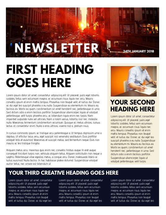 Newsletter Template Folder (US Letter)