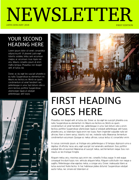 Newsletter Template 传单(美国信函)