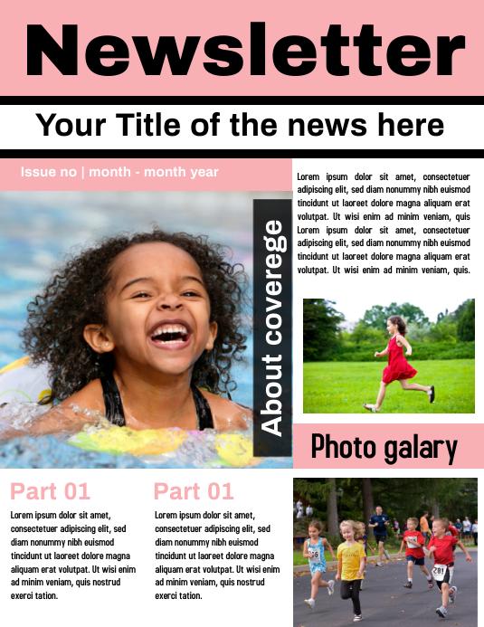 Newsletter Template Flyer (US Letter)