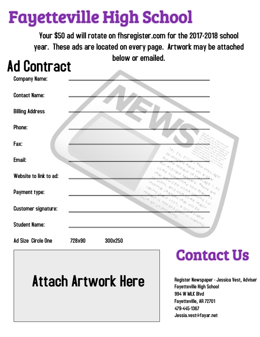 Newspaper Ad Contract Template  Postermywall