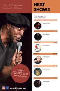 Next Comedy Shows Calendar Events Plays Flyer