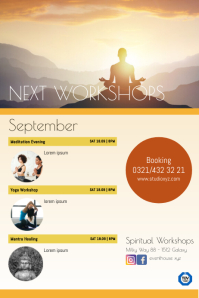 Next Workshops Seminars Classes Courses Ads Cartaz template