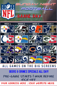 NFL Sunday Night Game Schedule
