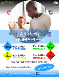 Internet Service flyers Volante (Carta US) template