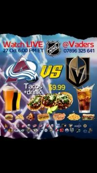 NHL Match Instagram Post