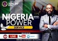 Nigeria flyer Kartu Pos template