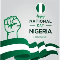 Nigeria independence day flyer/logo template