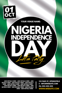 Nigeria Independence Day Poster template