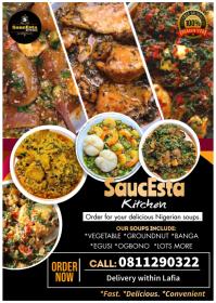 Nigerian soup restaurant flyer A6 template