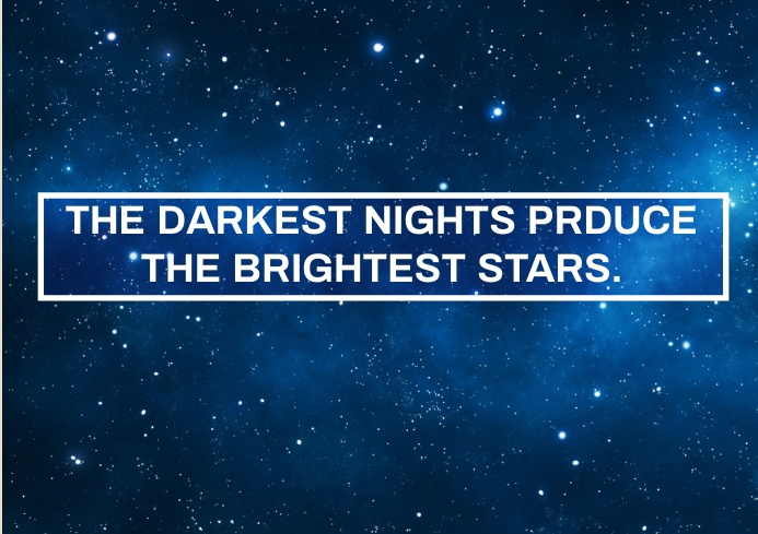 NIGHT AND STAR QUOTE TEMPLATE A4