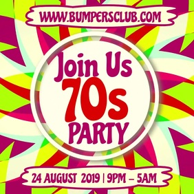 Night Club 70s Event Party Video Template