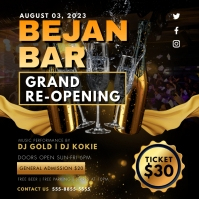 Night Club Bar Grand Reopening Event Invite