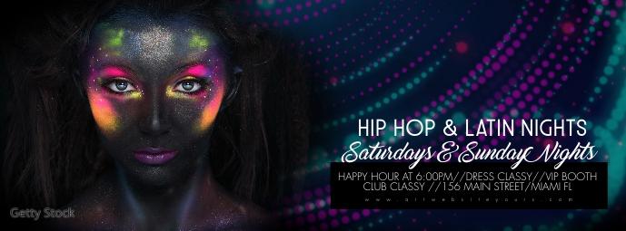 Night Club Bar Social Media Banner Couverture Facebook template