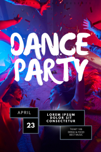 Night Club Dance Party flyer template
