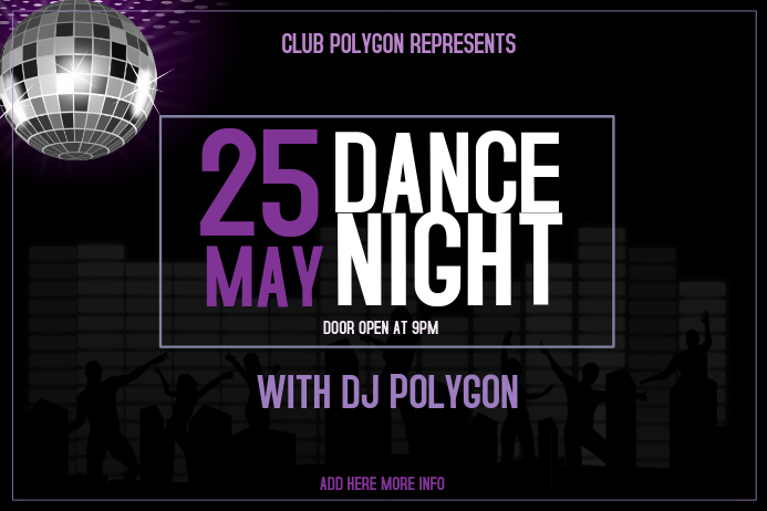 night club dance party poster template