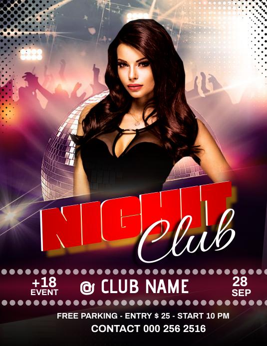 Night Club Volante (Carta US) template