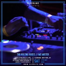 Night Club DJ Event Party Instagram Template