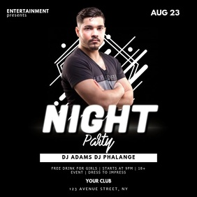 Night Club Dj Party Flyer Template