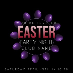 Night Club Easter Event Party Video Template