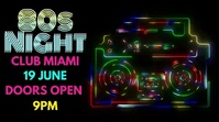 Night Club Event 80s Party Video Template Digitalanzeige (16:9)