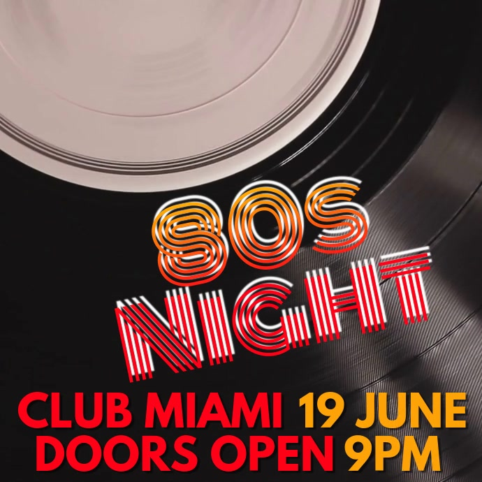 Night Club Event 80s Party Video Template